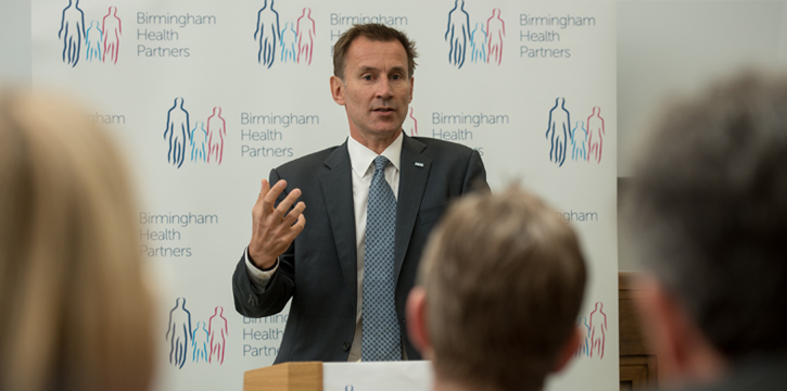 Jeremy Hunt speaking at the Institute of Translational Medicine
