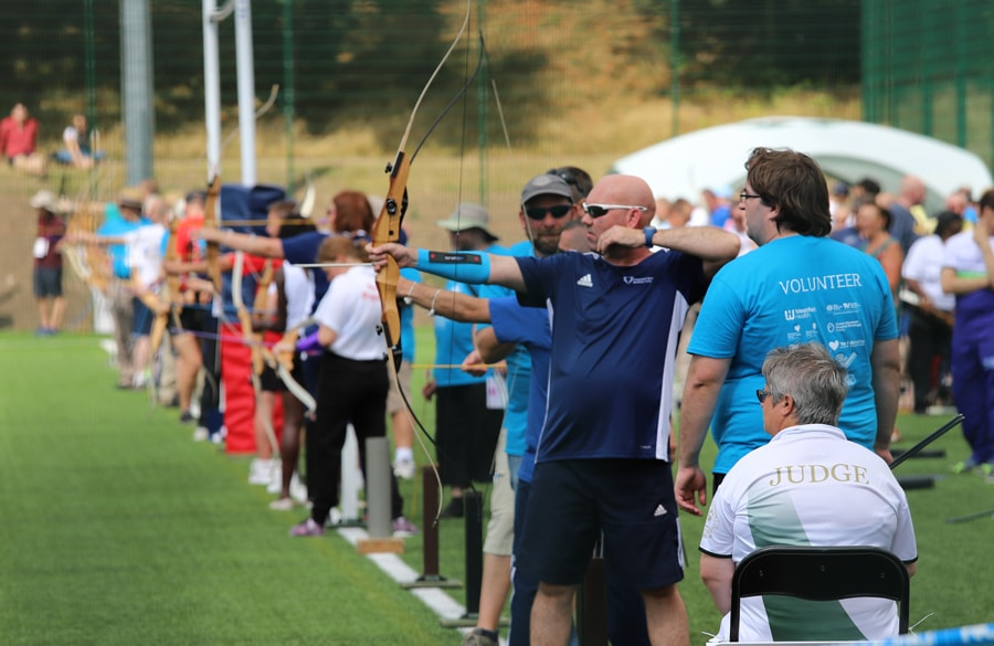 archery competition at the British Transplant Games