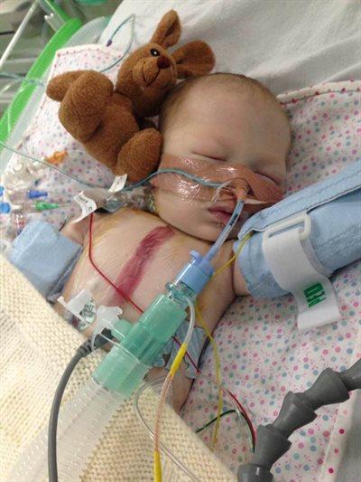 Lyla Parry in hospital