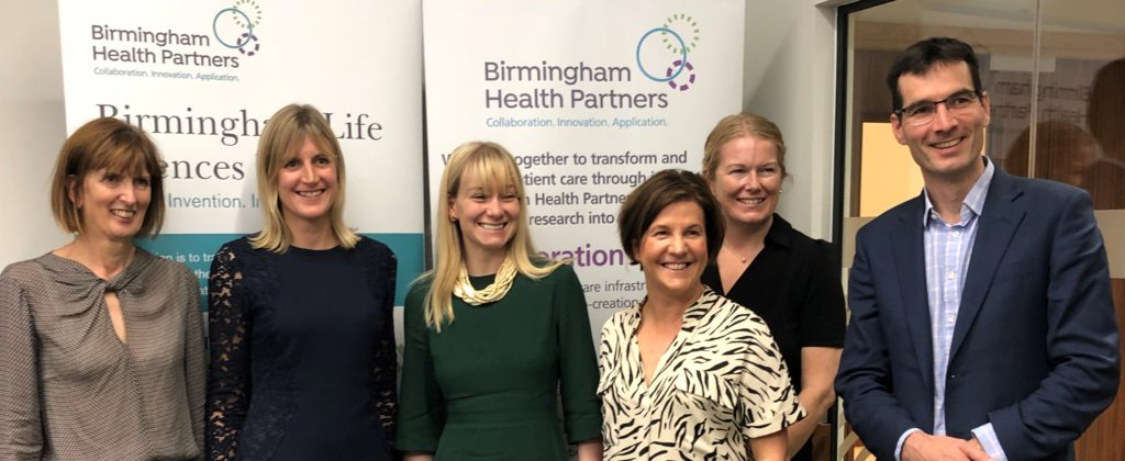 Baroness Blackwood with members of the BHP team