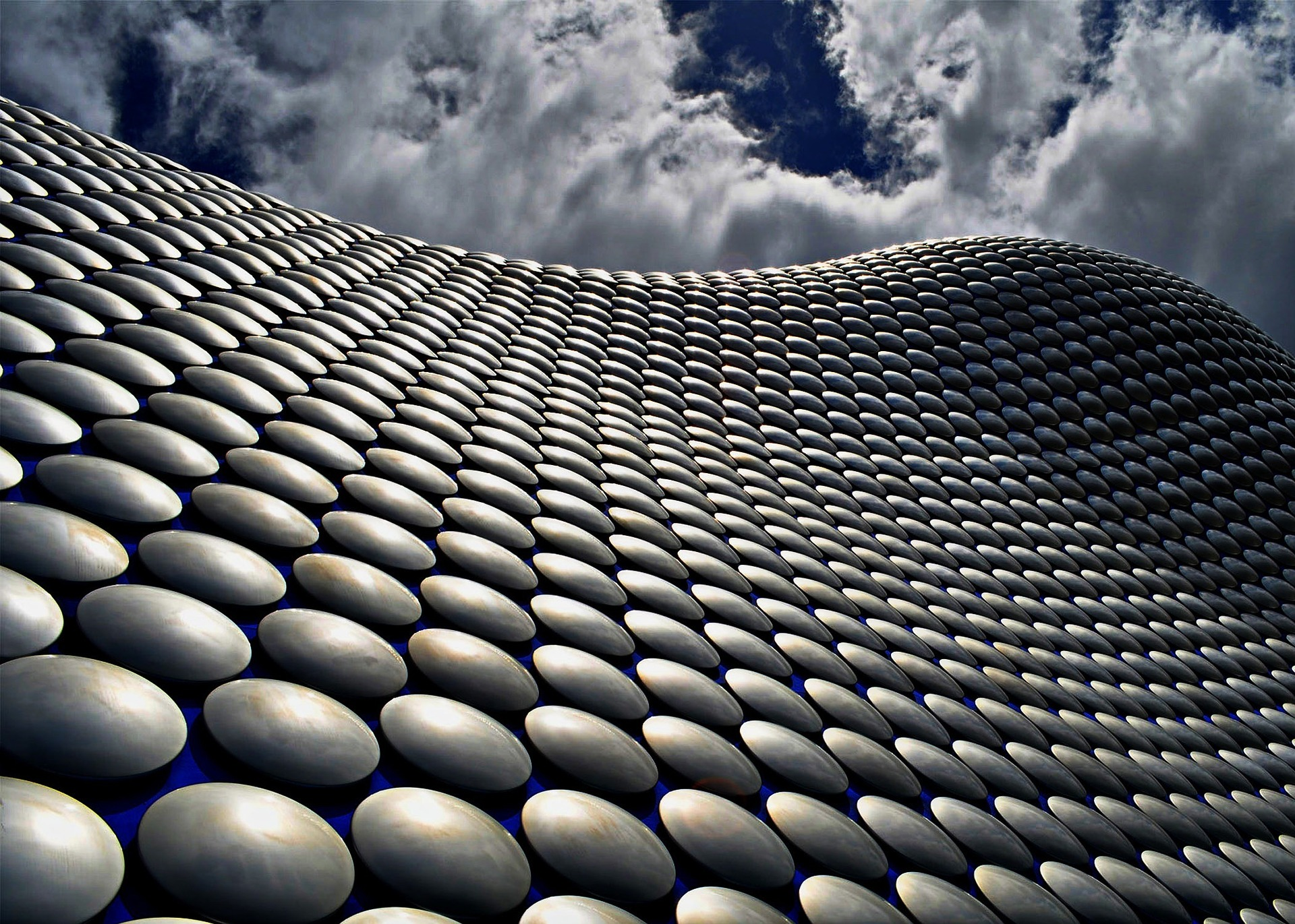 Selfridges building and blue skies