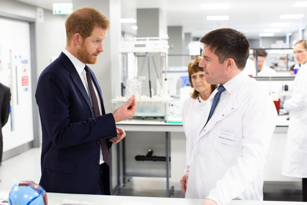 Prince Harry chats to Richard Williams about decorin