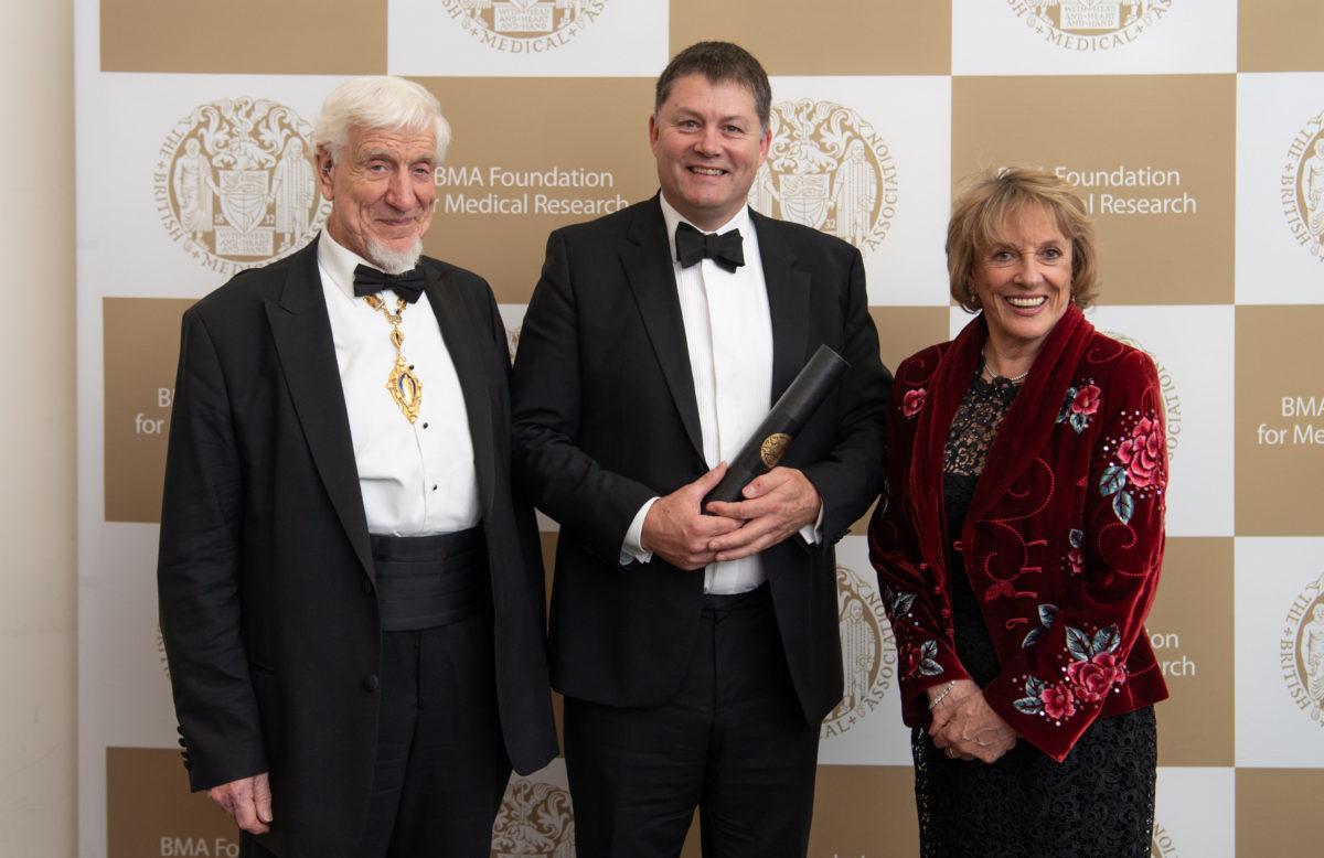 Left to right: Professor Raanan Gillon (President of the BMA), Professor Nicholas Barnes and Dame Esther Rantzen