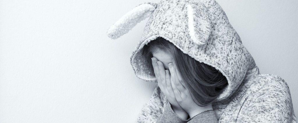 unhappy young girl