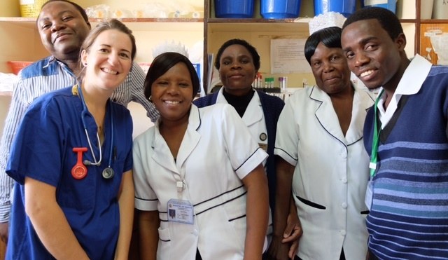 Staff of Birmingham Children's and Queen Elizabeth Central Hospital in Blantyre, Malawi