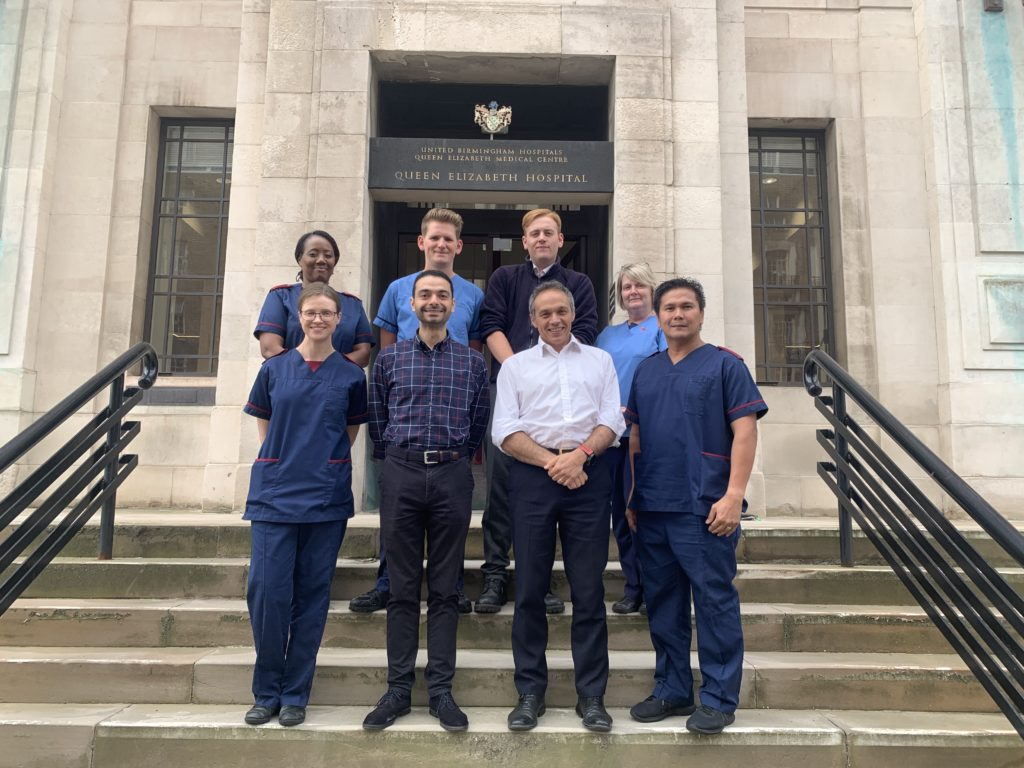 Members of the SRMRC research team on the steps of the ITM
