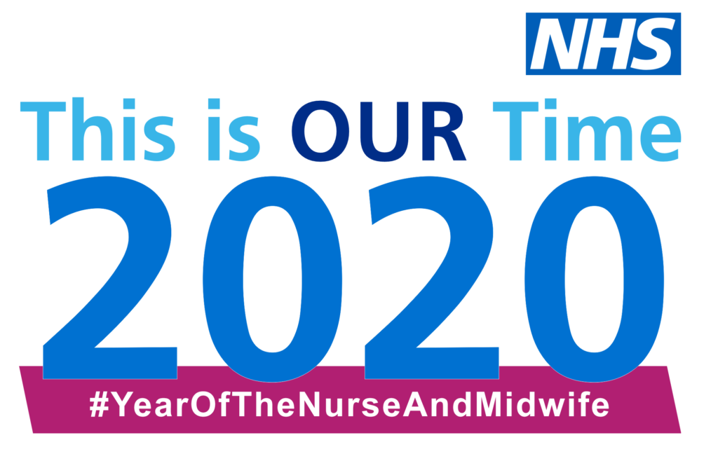 Year of the Nurse and Midwife NHS logo