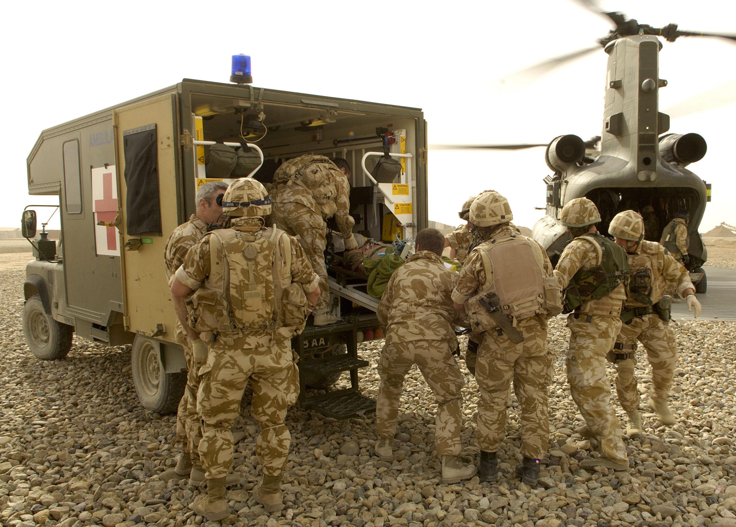 emergency military casualty evacuation