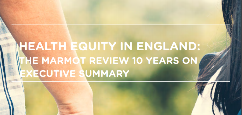 Health Equity in England: BHP welcomes ten-year review
