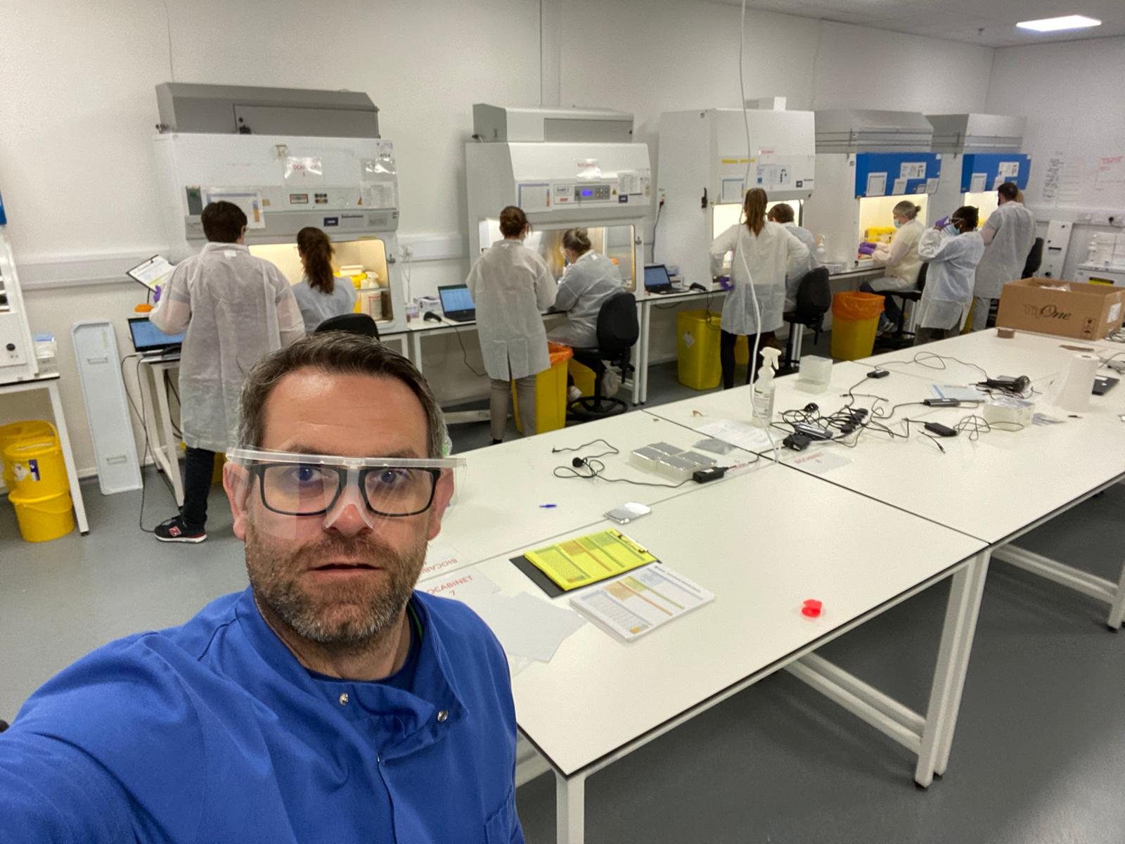 Professor Alan McNally at work in the lab