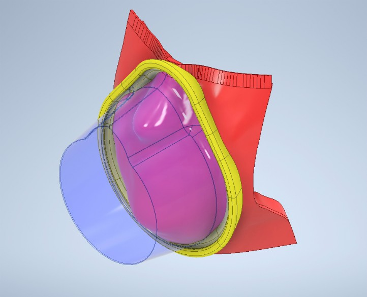 illustration of the new mask with silicon seal